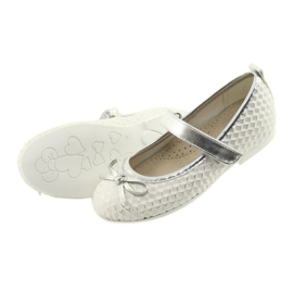 Ballerina shoes with Velcro American Club GC16 white grey 4