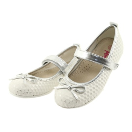Ballerina shoes with Velcro American Club GC16 white grey 3
