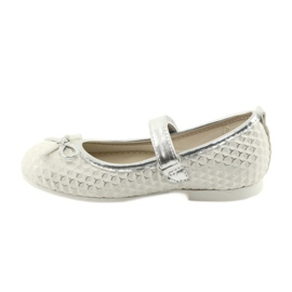 Ballerina shoes with Velcro American Club GC16 white grey 2