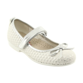 Ballerina shoes with Velcro American Club GC16 white grey 1