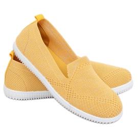 Yellow slip-on sneakers 784 Yellow 1