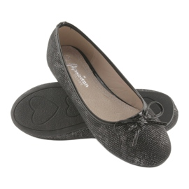 Ballerinas girls' American Club LU17 black grey 4