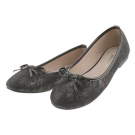 American Club LU17 black ballerinas for girls grey 3