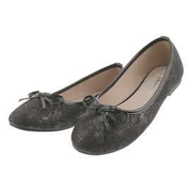 Ballerinas girls' American Club LU17 black grey 3