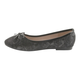 Ballerinas girls' American Club LU17 black grey 2