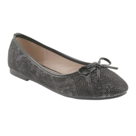 Ballerinas girls' American Club LU17 black grey 1