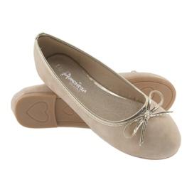 Ballerinas girls' American Club LU17 beige golden 4