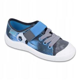 Befado children's shoes 251Y120 blue grey 1