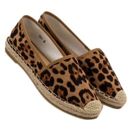 Spotted Espadrilles brown 1