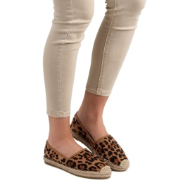 Spotted Espadrilles brown 2