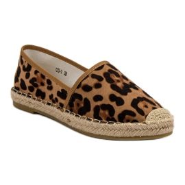 Spotted Espadrilles brown 4