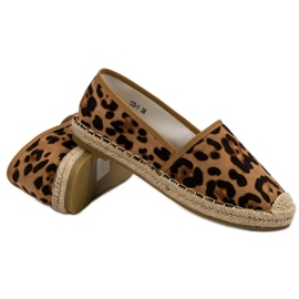 Spotted Espadrilles brown 6