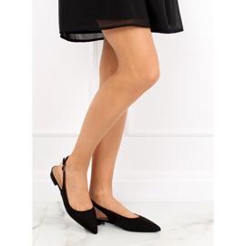 Black high heel ballerinas H9022 Negro 2