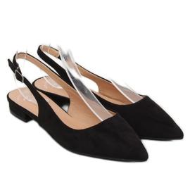 Black high heel ballerinas H9022 Negro 1