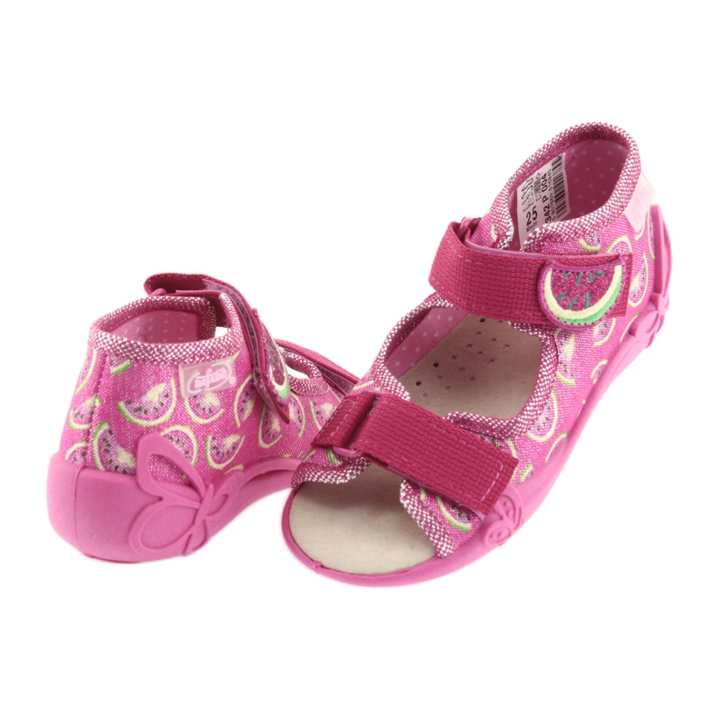 Pink Befado yellow children's shoes 342P004 picture 5