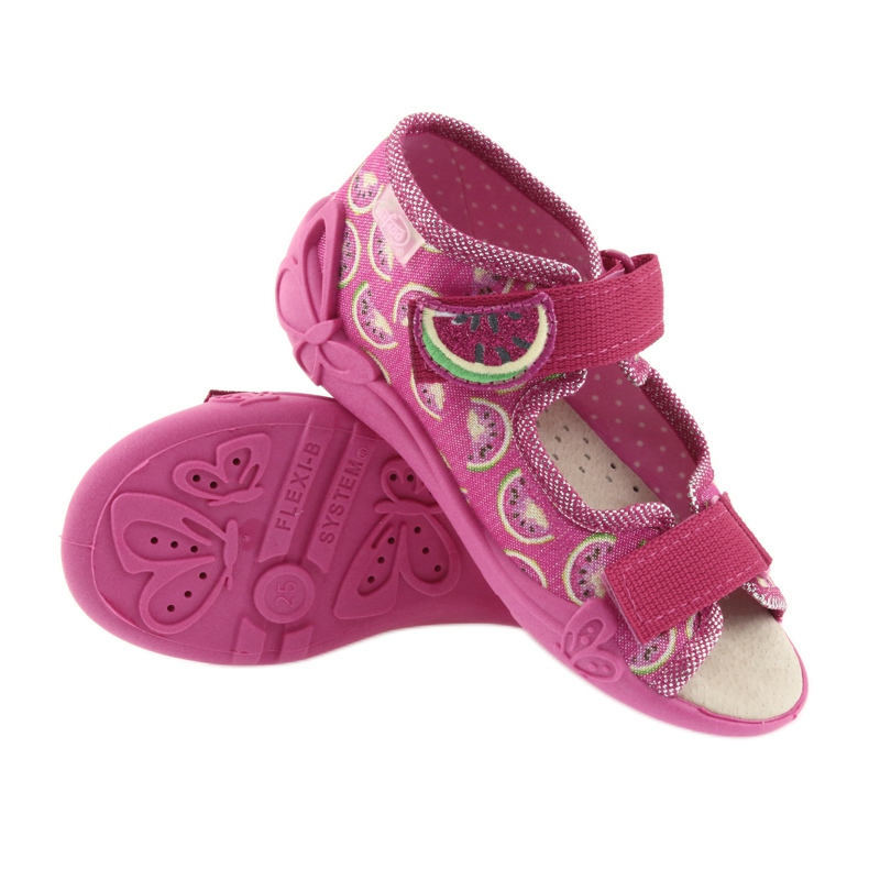 Pink Befado yellow children's shoes 342P004 picture 4
