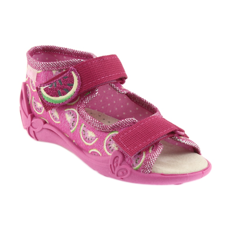 Pink Befado yellow children's shoes 342P004 picture 2