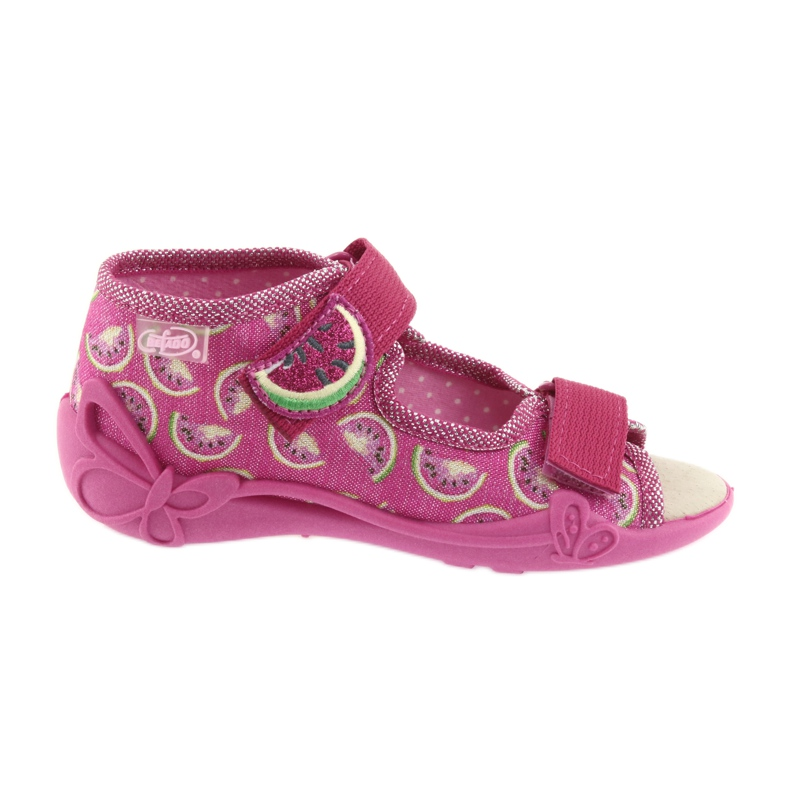 Pink Befado yellow children's shoes 342P004 picture 1