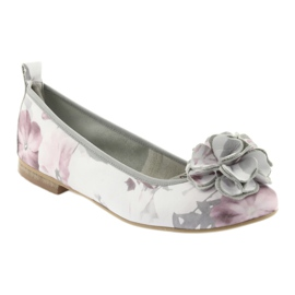 Women's ballerinas flowers Gianmarko 92/82 white pink grey 1