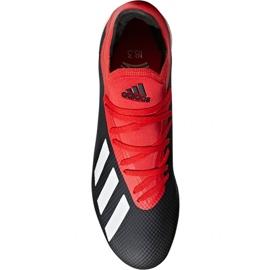 Football shoes adidas X 18.3 Tf M BB9398 black black 1
