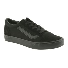 AlaVans Atletico 18081 tied sneakers. Black 1