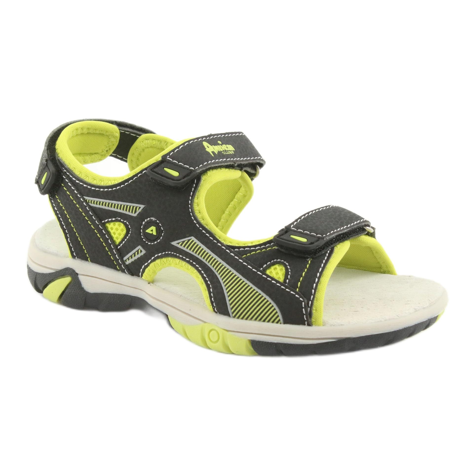 American Club RL22 boys' sandals black green - ButyModne.pl