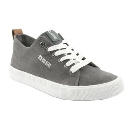 Men's gray sneakers Big Star 174165 grey 1