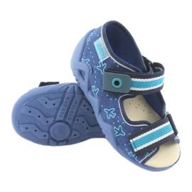 Befado children's shoes 350P004 blue green navy 3