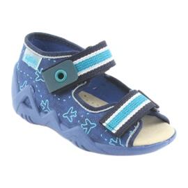 Befado children's shoes 350P004 blue green navy 1