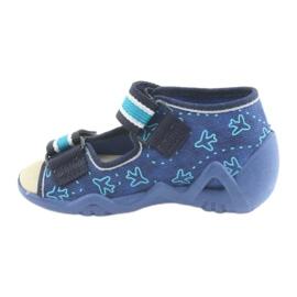 Befado children's shoes 350P004 blue green navy 2