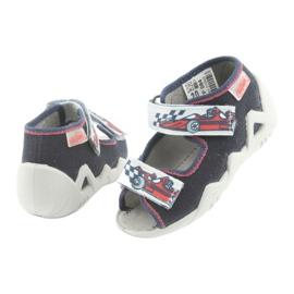 Befado children's shoes 250P084 grey red navy 4