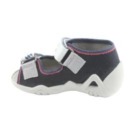 Befado children's shoes 250P084 grey red navy 2