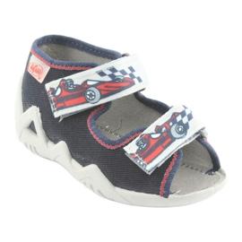 Befado children's shoes 250P084 grey red navy 1