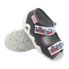 Befado children's shoes 250P084 grey red navy 3