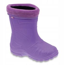 Befado children's footwear kalosz-fiolet 162X102 violet 1