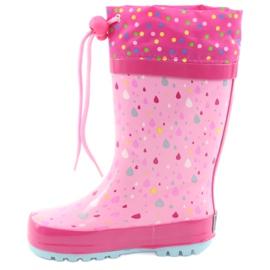 American Club American children's rain boots kitten blue pink 2