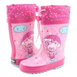 American Club American children's rain boots kitten blue pink 4
