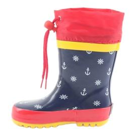 American Club American children's rain boots. Pirate red navy 2