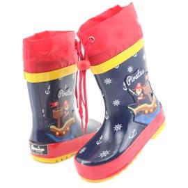 American Club American children's rain boots. Pirate red navy 4