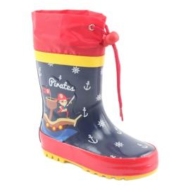 American Club American children's rain boots. Pirate red navy 1