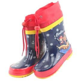 American Club American children's rain boots. Pirate red navy 3