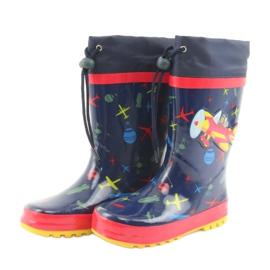 American Club American children's rain boots. SamoLot red navy 3