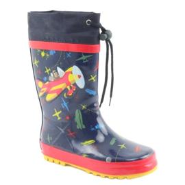 American Club American children's rain boots. SamoLot red navy 1