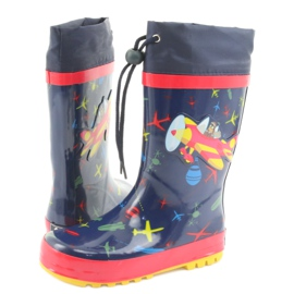 American Club American children's rain boots. SamoLot red navy 4