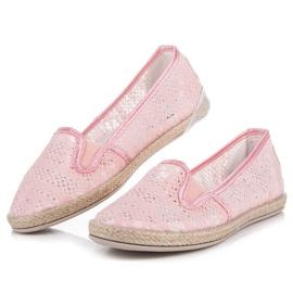 Balada Lace Espadrilles Slip On pink 3
