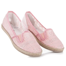 Balada Lace Espadrilles Slip On pink 2