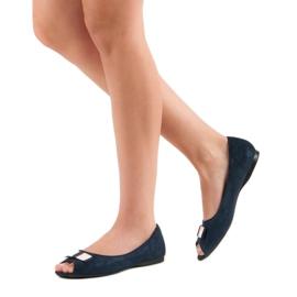 Open Toe Vinceza ballerinas blue 2