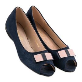 Open Toe Vinceza ballerinas blue 3