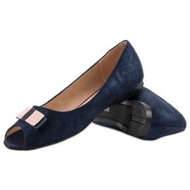 Open Toe Vinceza ballerinas blue 4