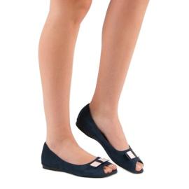 Open Toe Vinceza ballerinas blue 1